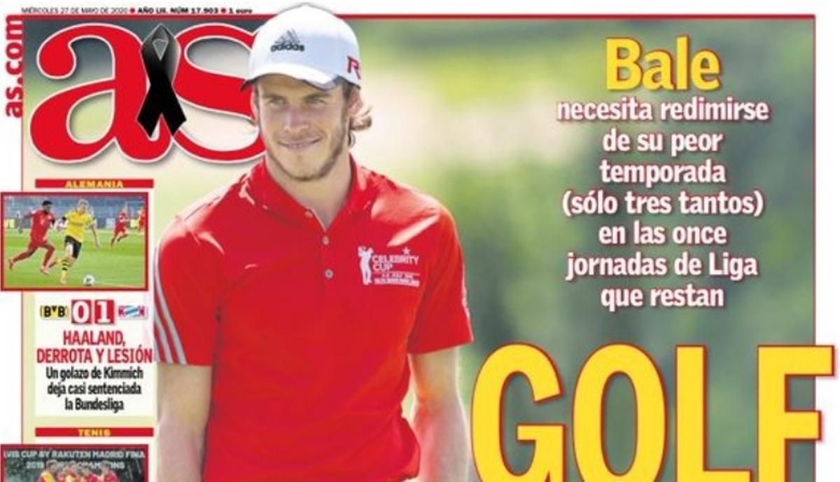 Η «AS» πικάρει τον Μπέιλ με… πανέξυπνο πρωτοσέλιδο! «Άλλο γκολφ, άλλο γκολ»