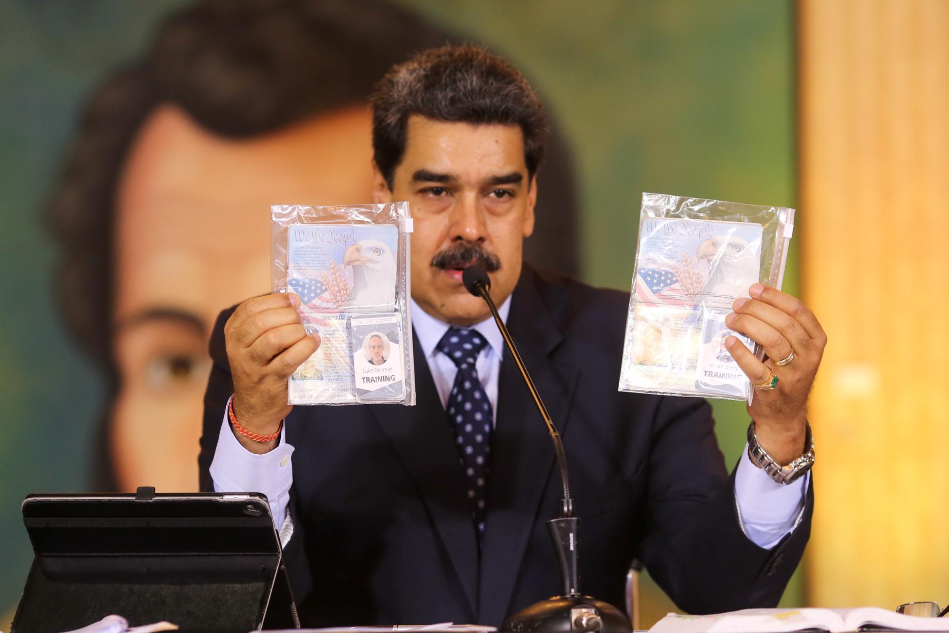 """Βενεζουέλα: Για """"συνωμοσία ανατροπής του Μαδούρο"""" οι δύο Αμερικανοί """"μισθοφόροι"""""""
