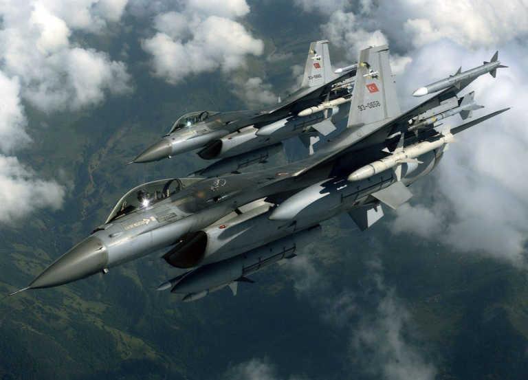 Προκαλεί και από αέρος η Τουρκία: Υπερπτήσεις F-16 πάνω από τους Ανθρωποφάγους
