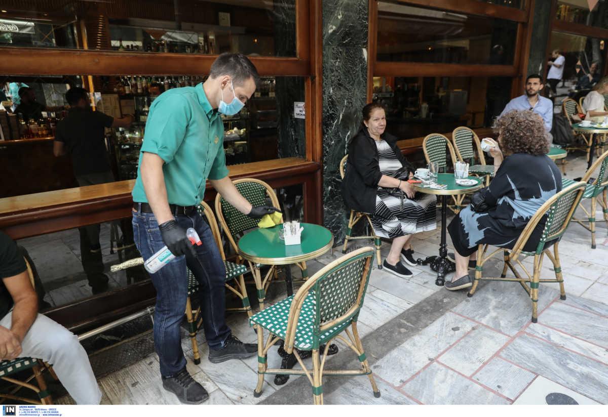 Καφετέριες: Δίπλα στον καφέ το αντισηπτικό και οι σερβιτόροι μασκοφόροι (pics)