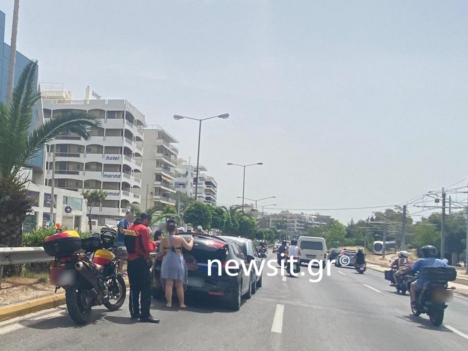 Καραμπόλα με έξι αυτοκίνητα στην παραλιακή (pics)