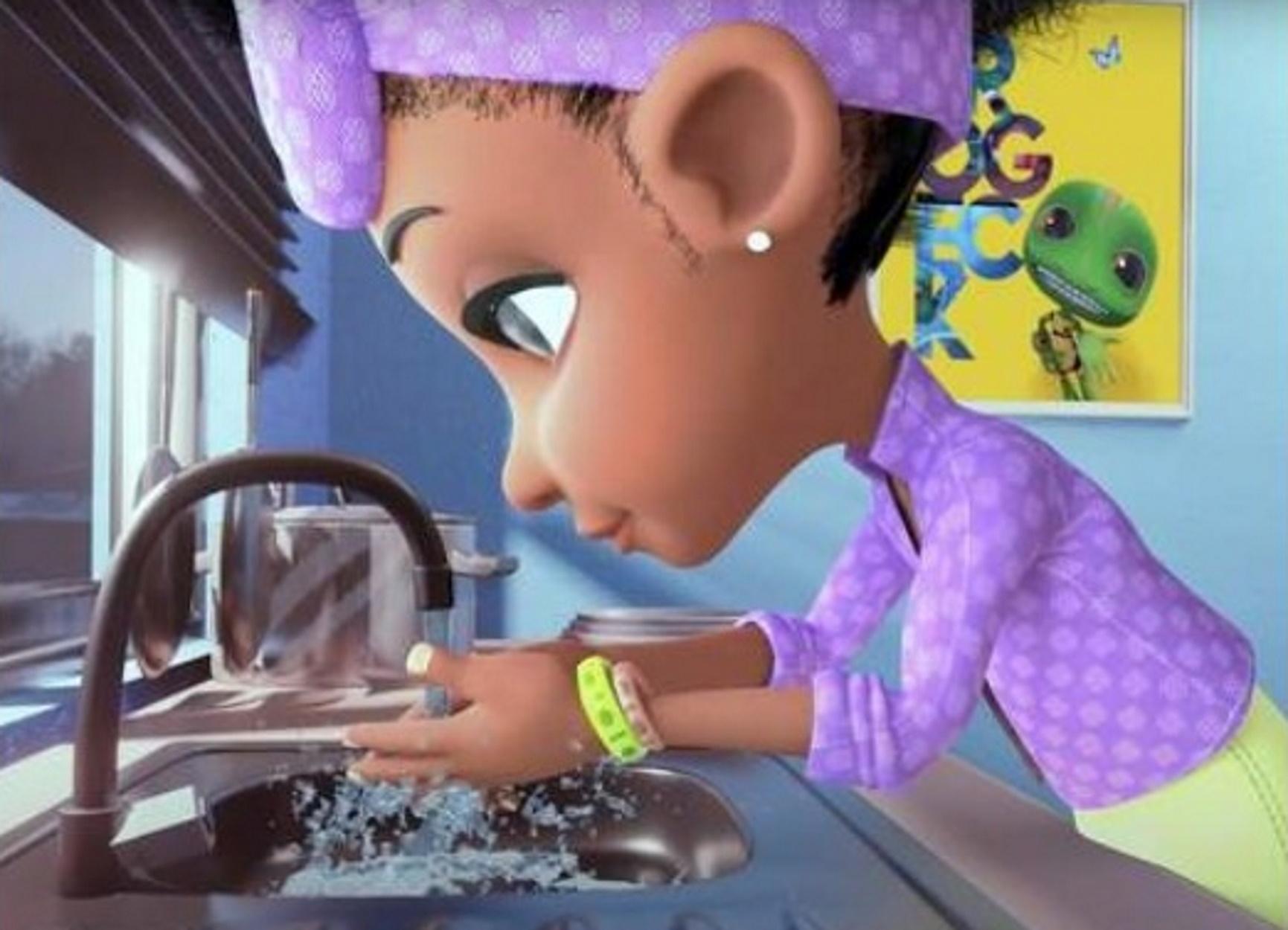"""Κορονοϊός – Νιγηρία: """"Τέρας"""" κινούμενο σχέδιο διδάσκει τα παιδιά τους κινδύνους (pic, video)"""