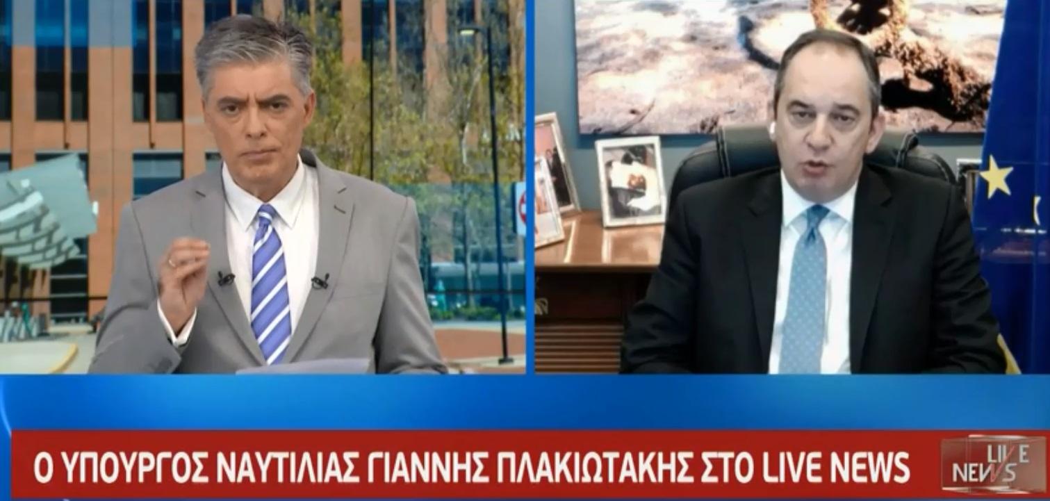 Πλακιωτάκης στο Live News: «Πού επιτρέπεται το κολύμπι – Όχι στο ταξίδι στα νησιά από τις 18 Μαΐου»