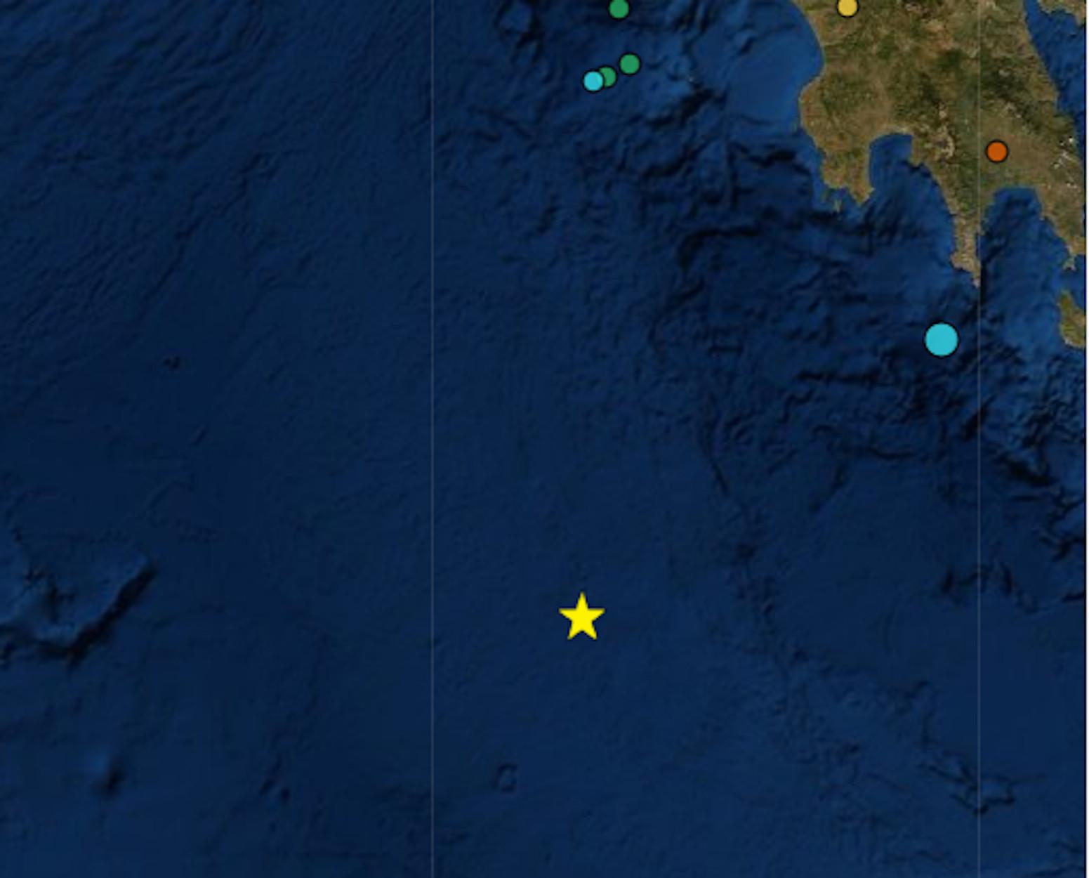 Σεισμός 5,9 Ρίχτερ νότια της Πύλου