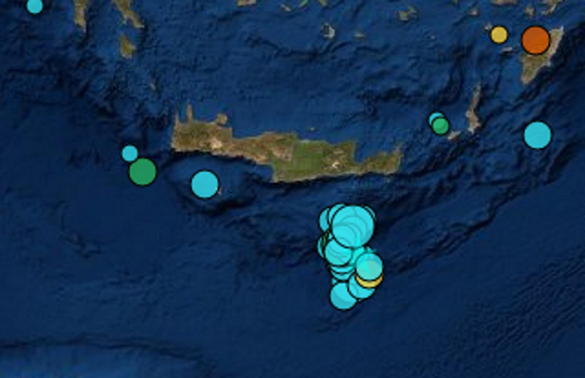 Σεισμός ανοιχτά της Κρήτης! Σείεται η γη το τελευταίο 24ωρο (Φωτό)