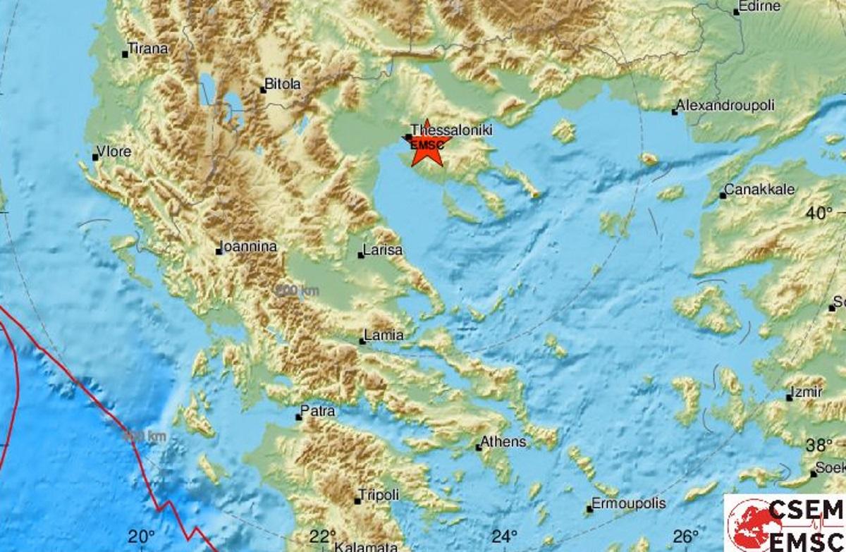 Σεισμός κοντά στη Θεσσαλονίκη