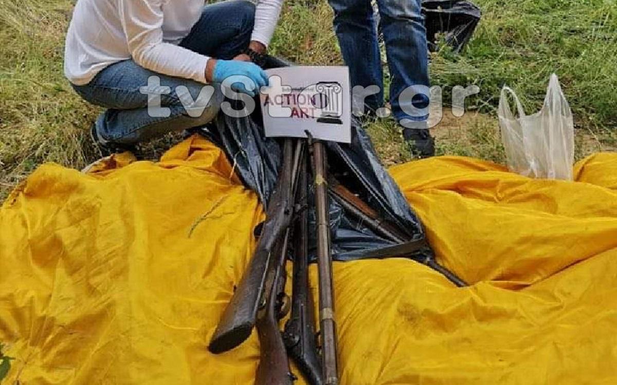 Αστυνομικό θρίλερ στη Λιβαδειά! Αρχαιοκάπηλος παρέδωσε αρχαία όπλα και νομίσματα (video)