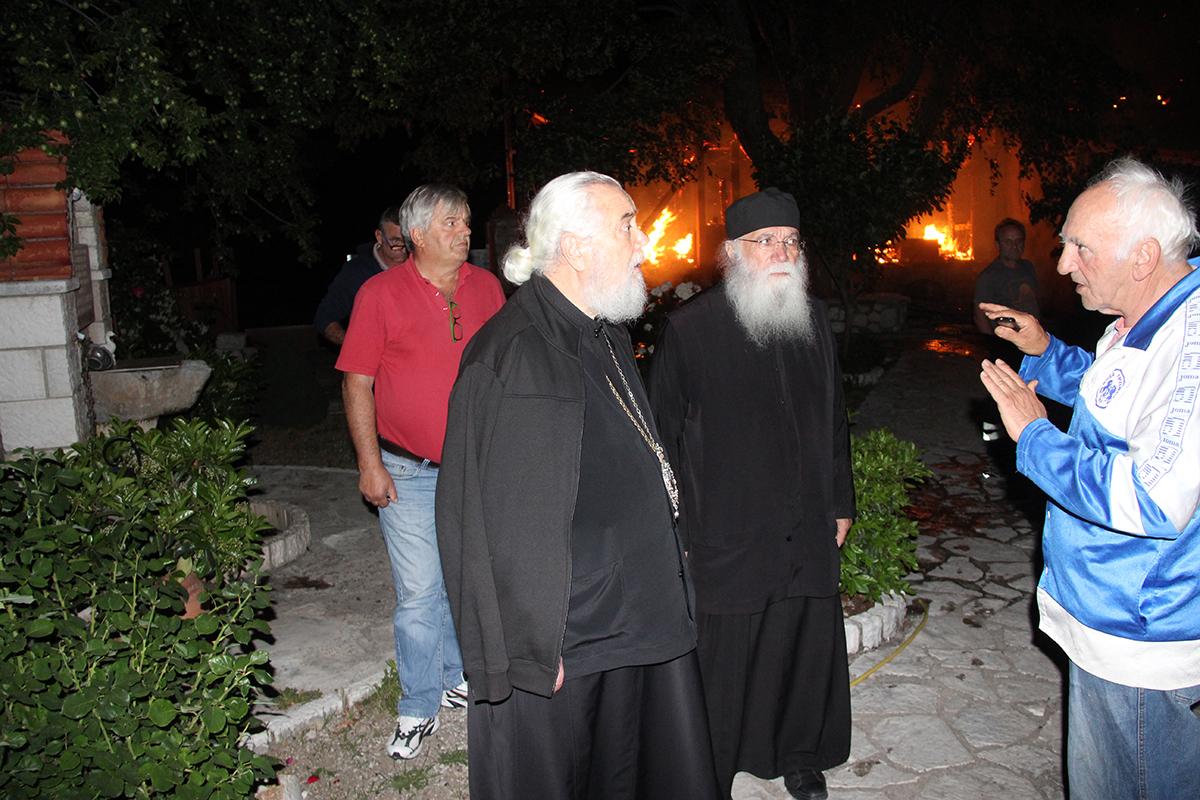 Πένθος στη Μητρόπολη Φωκίδας για την καταστροφική φωτιά στο μοναστήρι Βαρνάκοβας