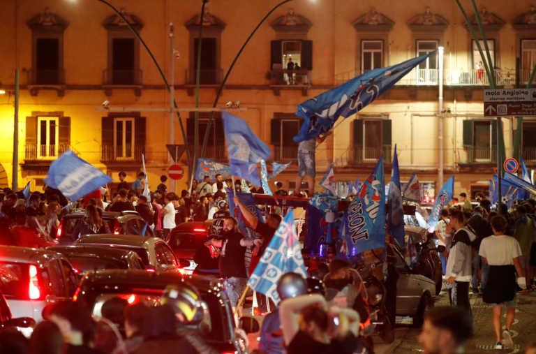 «Ξέχασαν» τον κορονοϊό! «Κάηκε» η Νάπολη μετά την κατάκτηση του Κυπέλλου Ιταλίας (video, pics)
