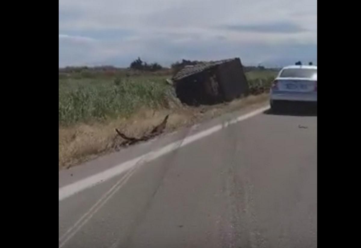 Τούμπαρε φορτηγό στην Εγνατία Οδό – Τραυματίας ο οδηγός