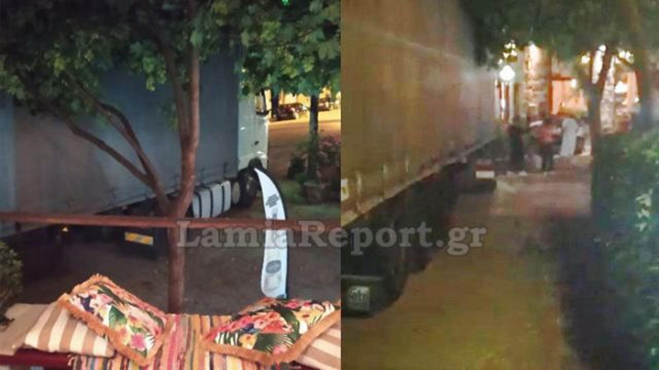 """Αμφίκλεια: Μεθυσμένος νταλικέρης σκόρπισε τον πανικό – """"Ερχόταν πάνω στον κόσμο…"""" (pics)"""
