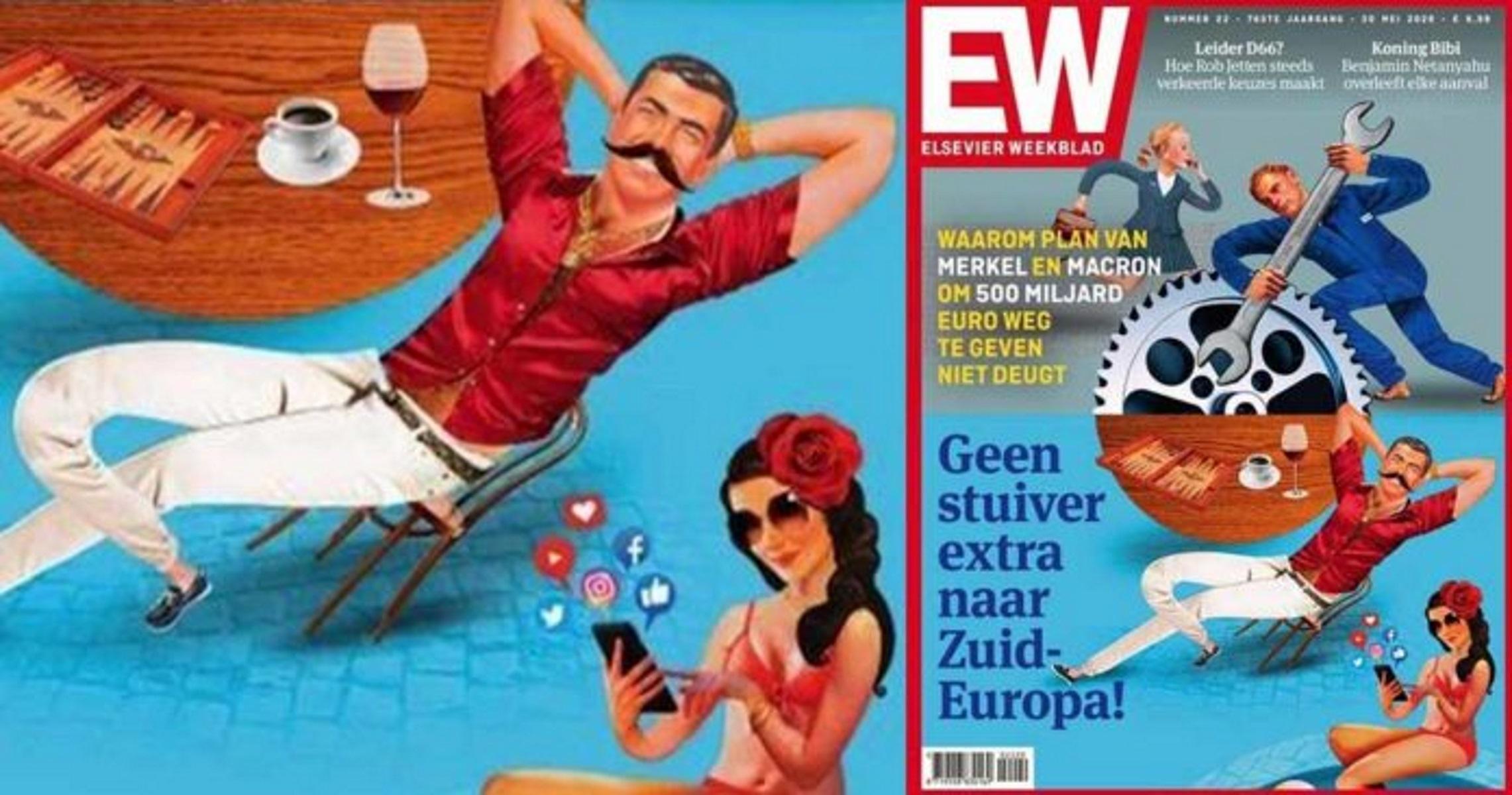 """Σάλος με ολλανδικό περιοδικό: """"Τεμπέληδες"""" οι Έλληνες και οι άλλοι κάτοικοι της Νότιας Ευρώπης"""