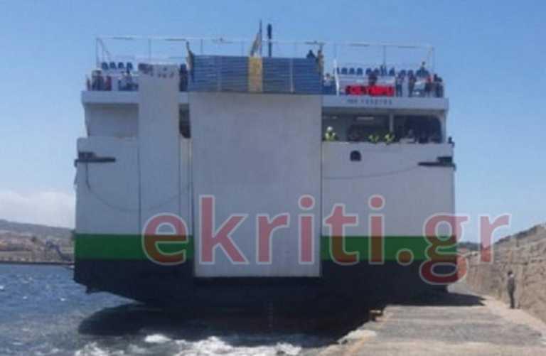 Ρέθυμνο: Προσέκρουσε στο λιμάνι το πλοίο