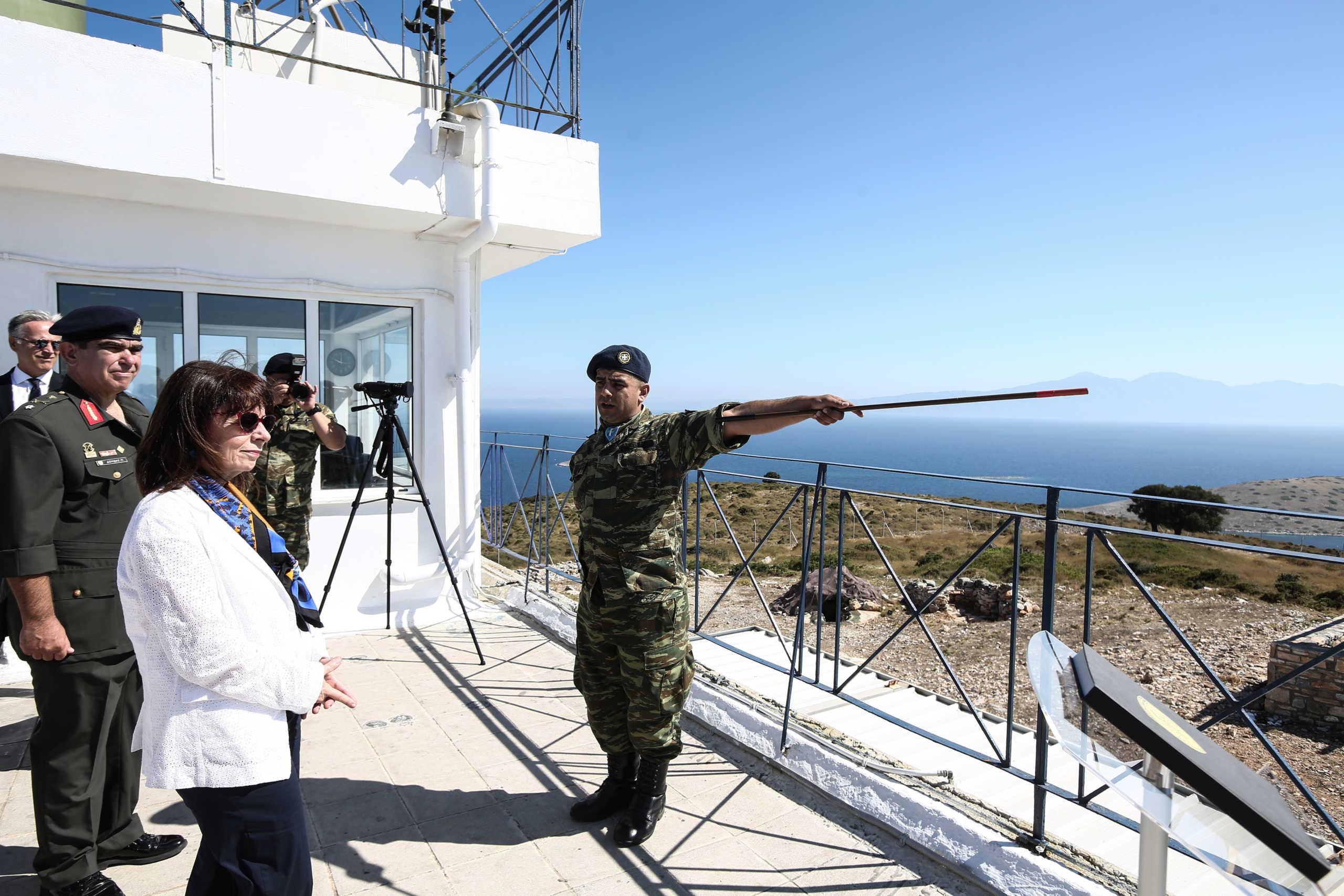 Σακελλαροπούλου από το Αγαθονήσι: Η Ελλάδα δεν είναι διατεθειμένη να απεμπολήσει κυριαρχικά δικαιώματα