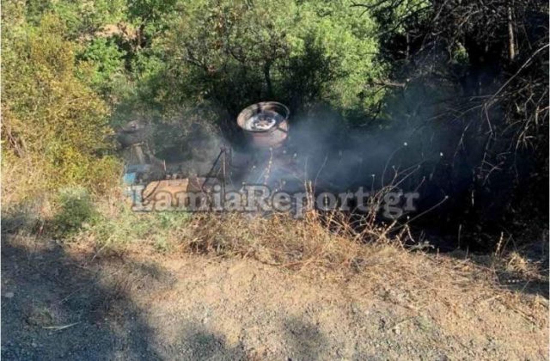 Φθιώτιδα: Τραγικός θάνατος άνδρα – Εγκλωβίστηκε στο τρακτέρ που ανατράπηκε και κάηκε