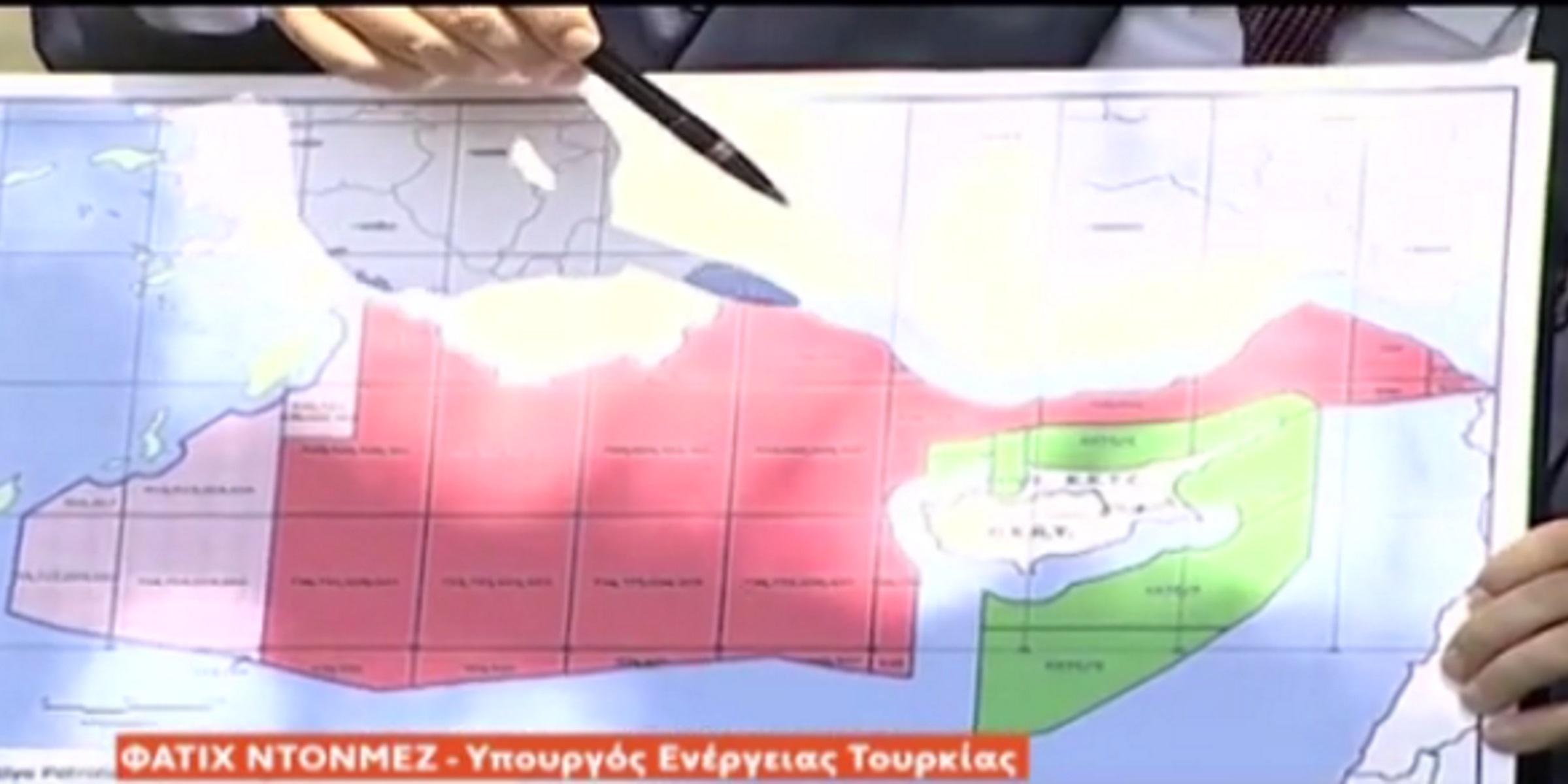 """Νέο show Ντονμέζ με χάρτες: Κάνουμε γεωτρήσεις στα σύνορα της """"Γαλάζιας Πατρίδας"""" μας"""