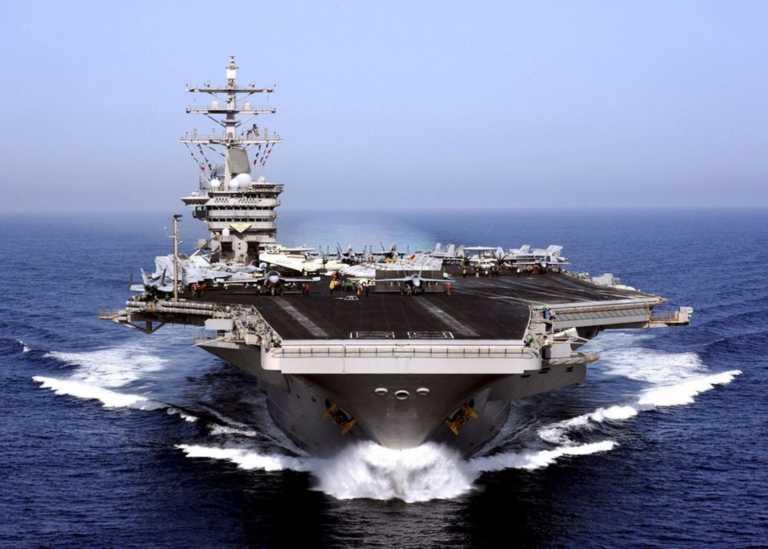 Στην Κρήτη θα πλεύσει το γιγαντιαίο αεροπλανοφόρο Αϊζενχάουερ μαζί με 12 πολεμικά πλοία των ΗΠΑ