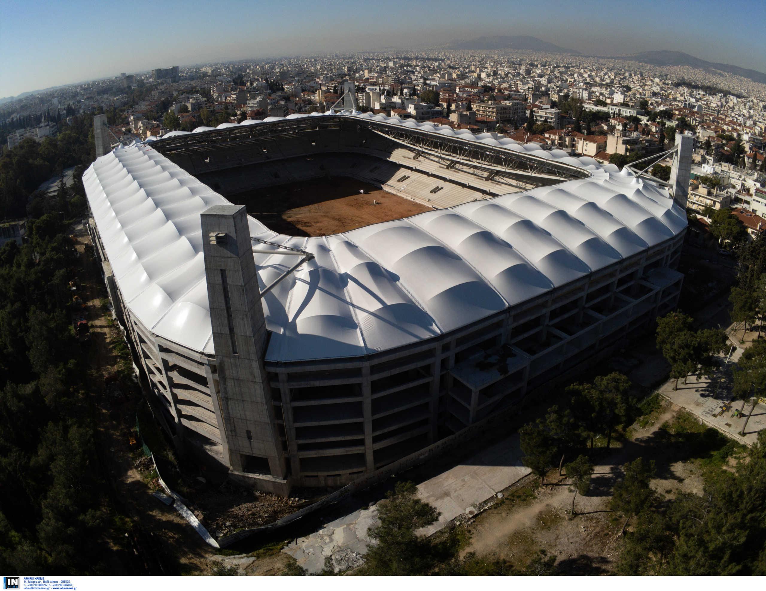 Γήπεδο ΑΕΚ: Κιτρινίζει όλο το πάνω διάζωμα στην «Αγια-Σοφιά»