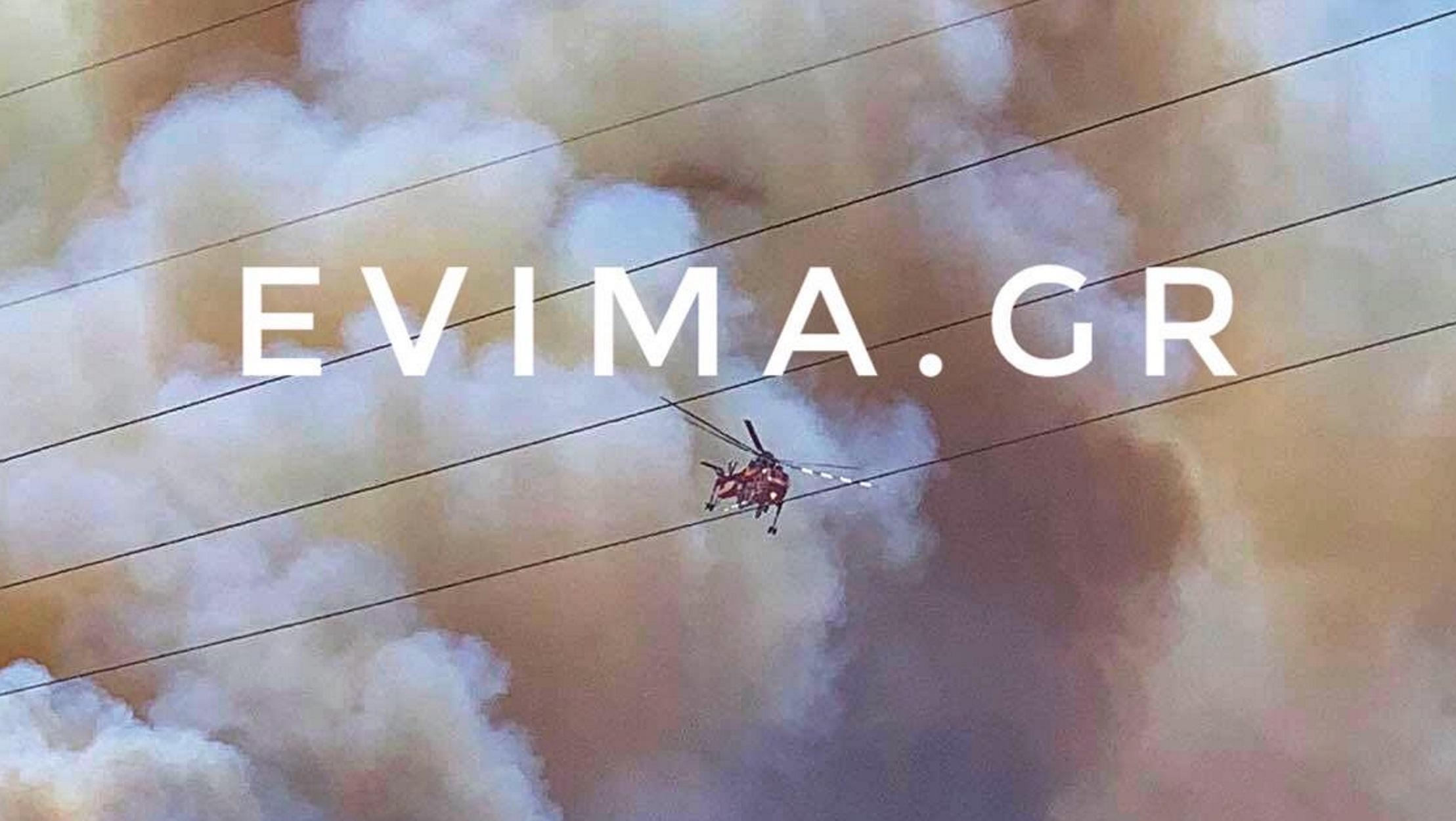 """Κάρυστος: Μάχη με φλόγες και μποφόρ – """"Πολιόρκησε"""" σπίτια η φωτιά (pics, video)"""