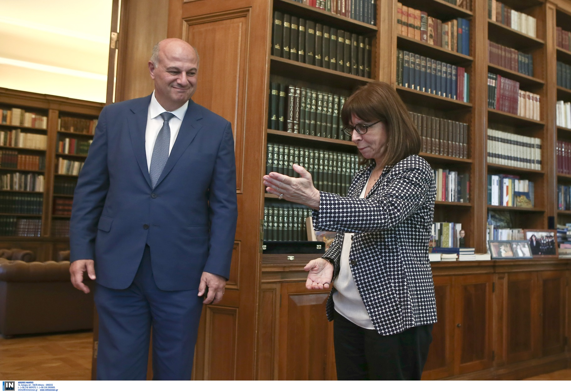 Σακελλαροπούλου: Δέχτηκε τον υπουργό Δικαιοσύνης