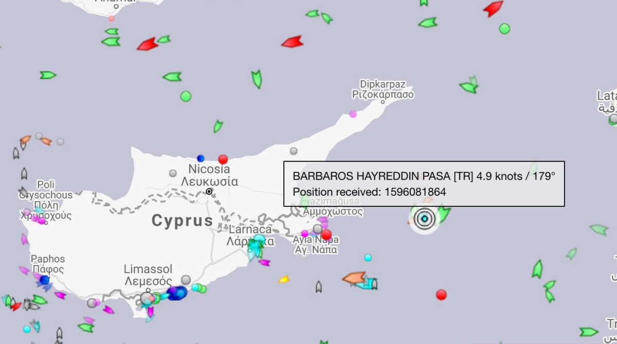 Οι ΗΠΑ καλούν την Τουρκία να «Σταματήσουν τις επιχειρήσεις στην κυπριακή ΑΟΖ»- Έξω από την Αμμόχωστο το Barbaros