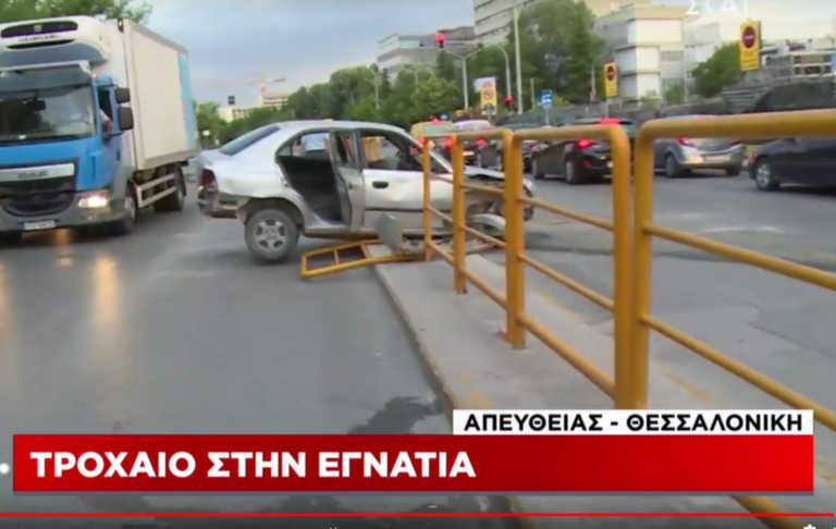 Περίεργο τροχαίο στην Θεσσαλονίκη - Τι καταγγέλλει ο ιδιοκτήτης του αυτοκινήτου (video)