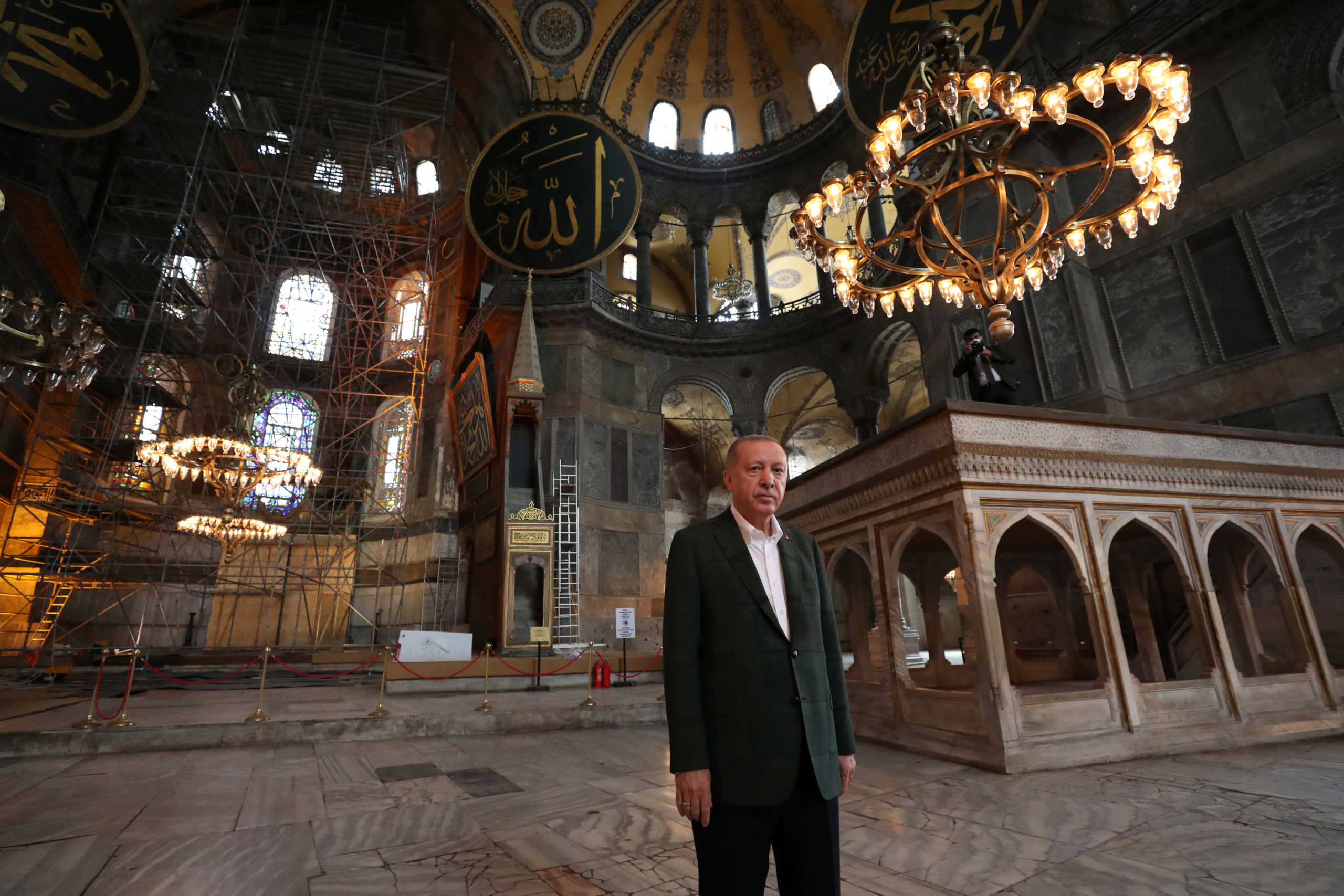 Ερντογάν για Αγιά Σοφιά: Ξανάγινε τζαμί γιατί είναι κληρονομιά κατάκτησης