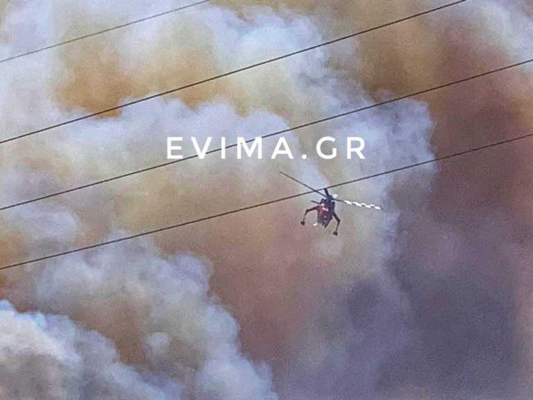 Εύβοια: Δραματικές διαστάσεις παίρνει η μεγάλη φωτιά - Μαίνεται ανεξέλεγκτη (pics,video)
