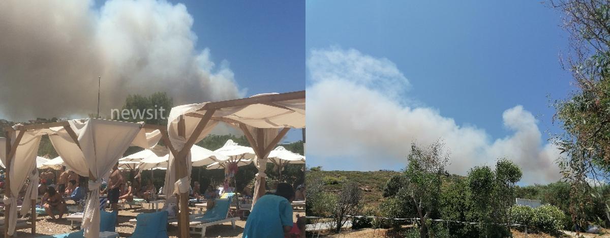 Μεγάλη φωτιά στο Λαύριο – Εκκενώνονται προληπτικά οικισμοί