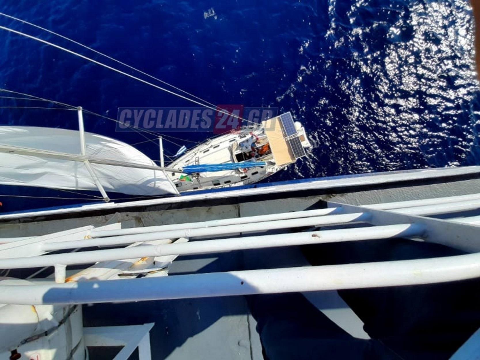 Θρίλερ στον Ευβοϊκό: Επιχείρηση διάσωσης επιβαινόντων ακυβέρνητου ιστιοφόρου (pics)