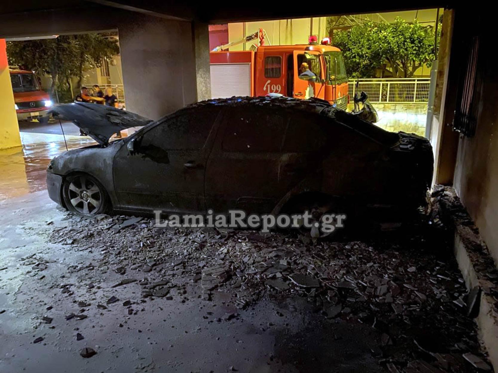 Λαμία: Ανατίναξαν το αυτοκίνητο του πρώην αρχιφύλακα των φυλακών Δομοκού! (pics,video)