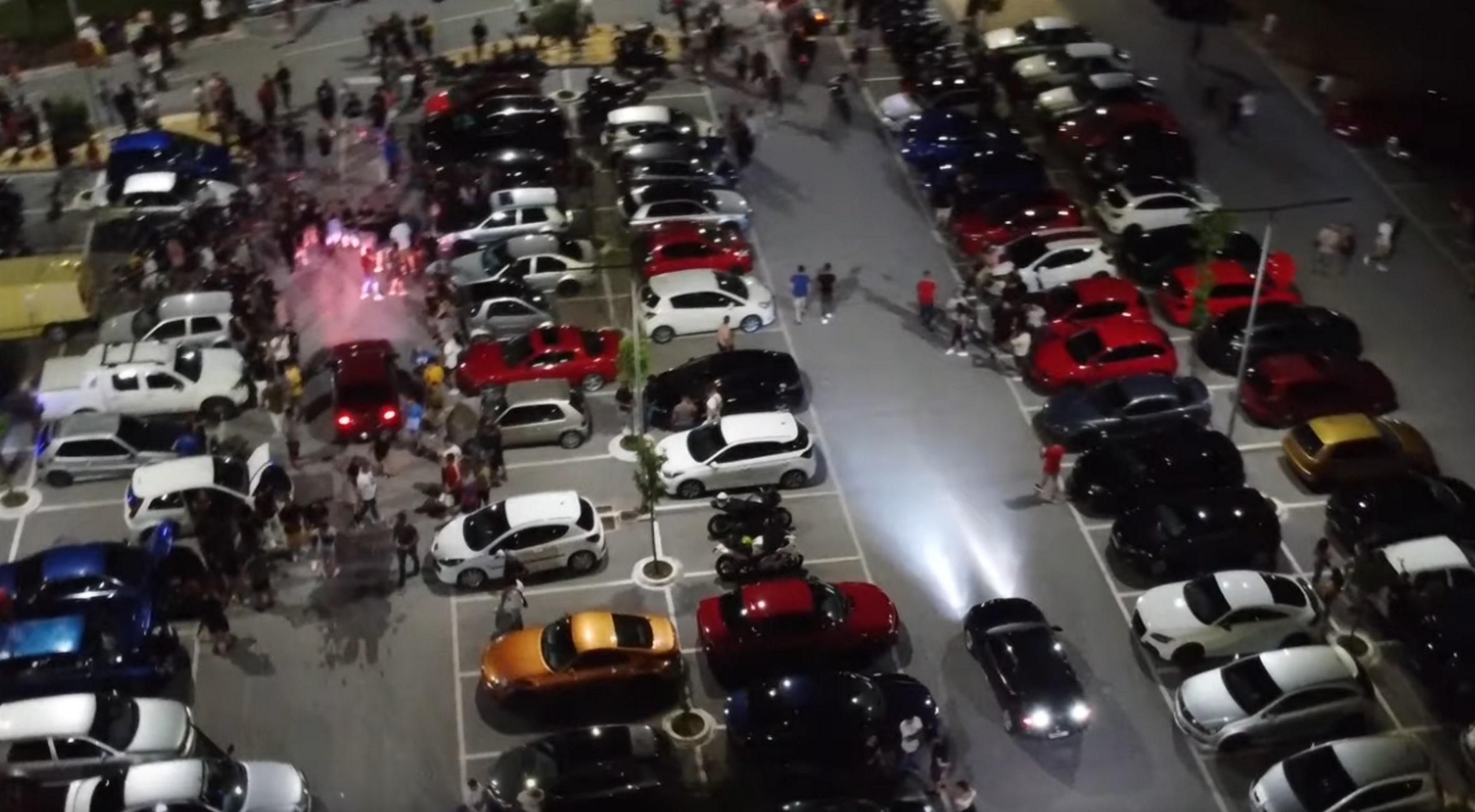 """Λάρισα: Κόντρες αυτοκινήτων στην κάμερα! Το ραντεβού που έδωσαν οδηγοί """"πειραγμένων"""" ΙΧ (Βίντεο)"""