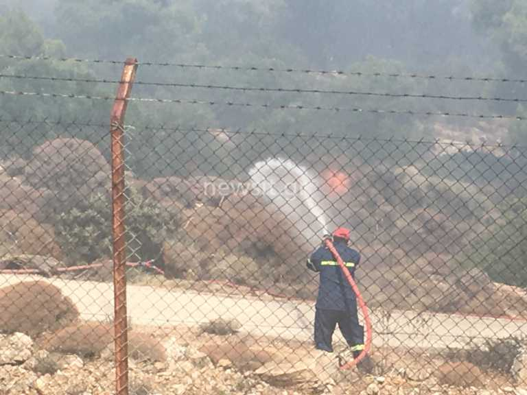 Πυρκαγιά στο Λαύριο - Εικόνες μέσα από την μάχη με τις φλόγες - Σε ύφεση με διάσπαρτες εστίες