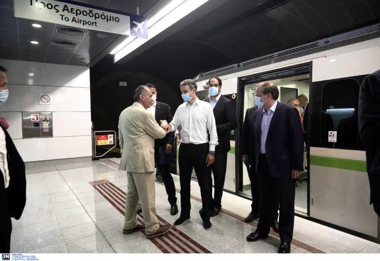 Μητσοτάκης στα εγκαίνια των νέων σταθμών του Μετρό: «Προτιμούμε να μιλάνε τα έργα μας»