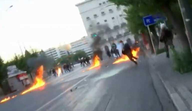 Επεισόδια και μολότοφ στην... διαδήλωση για τις διαδηλώσεις έξω από την Βουλή