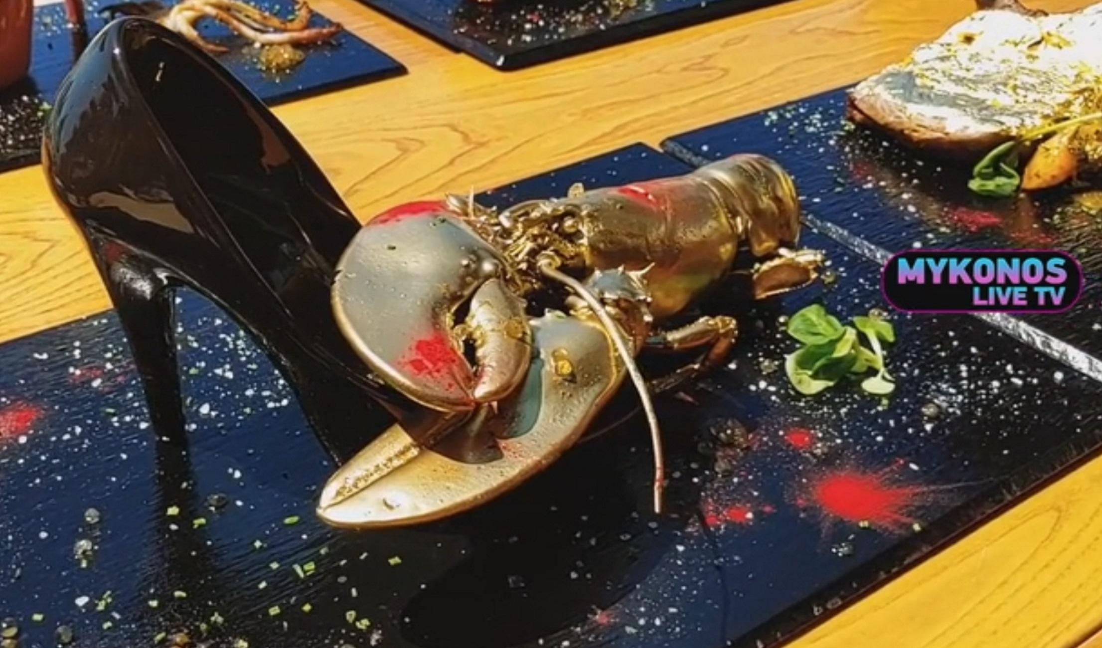 Μύκονος: Το πιο ακριβό πιάτο του φετινού καλοκαιριού! Δωδεκάποντη γόβα, φύλλα χρυσού και λογαριασμός που ζαλίζει