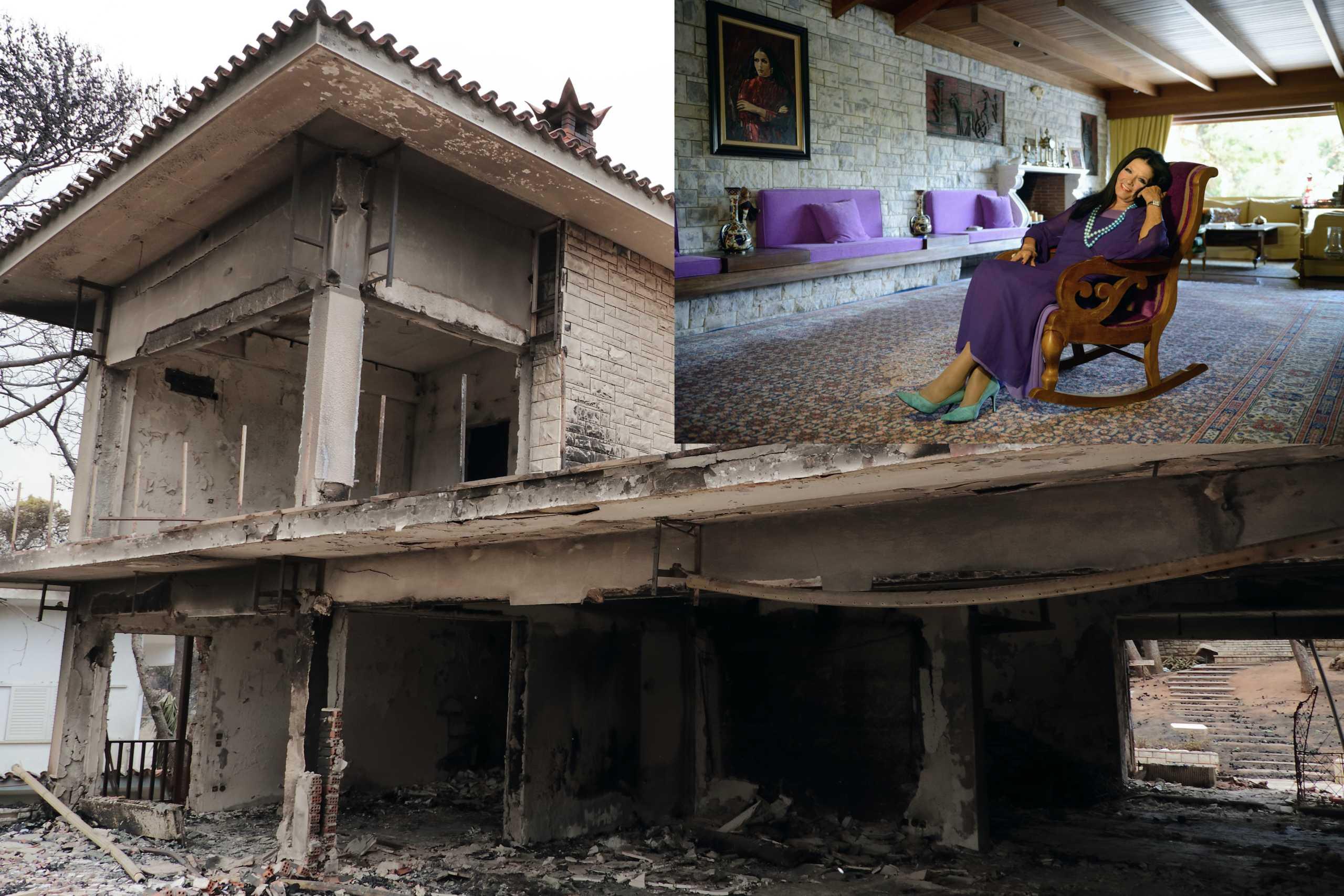 Ζωζώ Σαπουντζάκη: Οι μνήμες από την καταστροφική πυρκαγιά στην Κινέτα την «στοιχειώνουν» (pics)