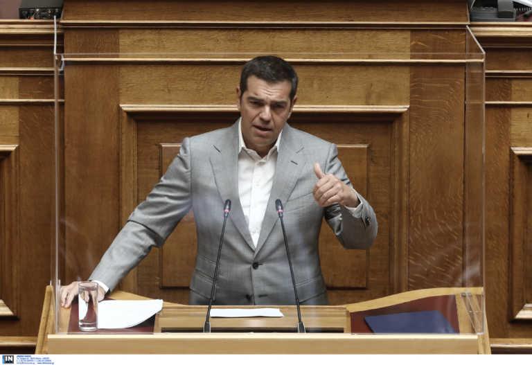 Ο Αλέξης Τσίπρας στη Βουλή για το πτωχευτικό: Πετάνε τους αδύναμους βορά στις τράπεζες
