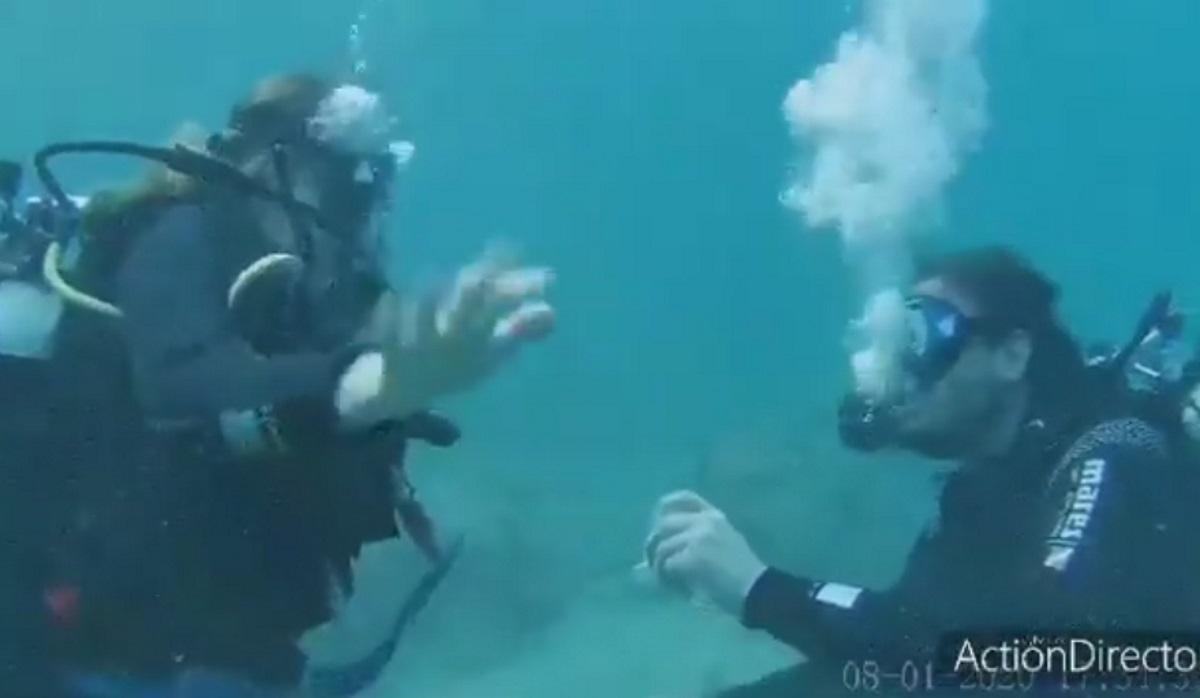 Υποβρύχια πρόταση γάμου στην Αλόννησο (video)