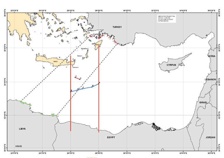 διπλωματικές πηγές - χάρτης ΑΟΖ
