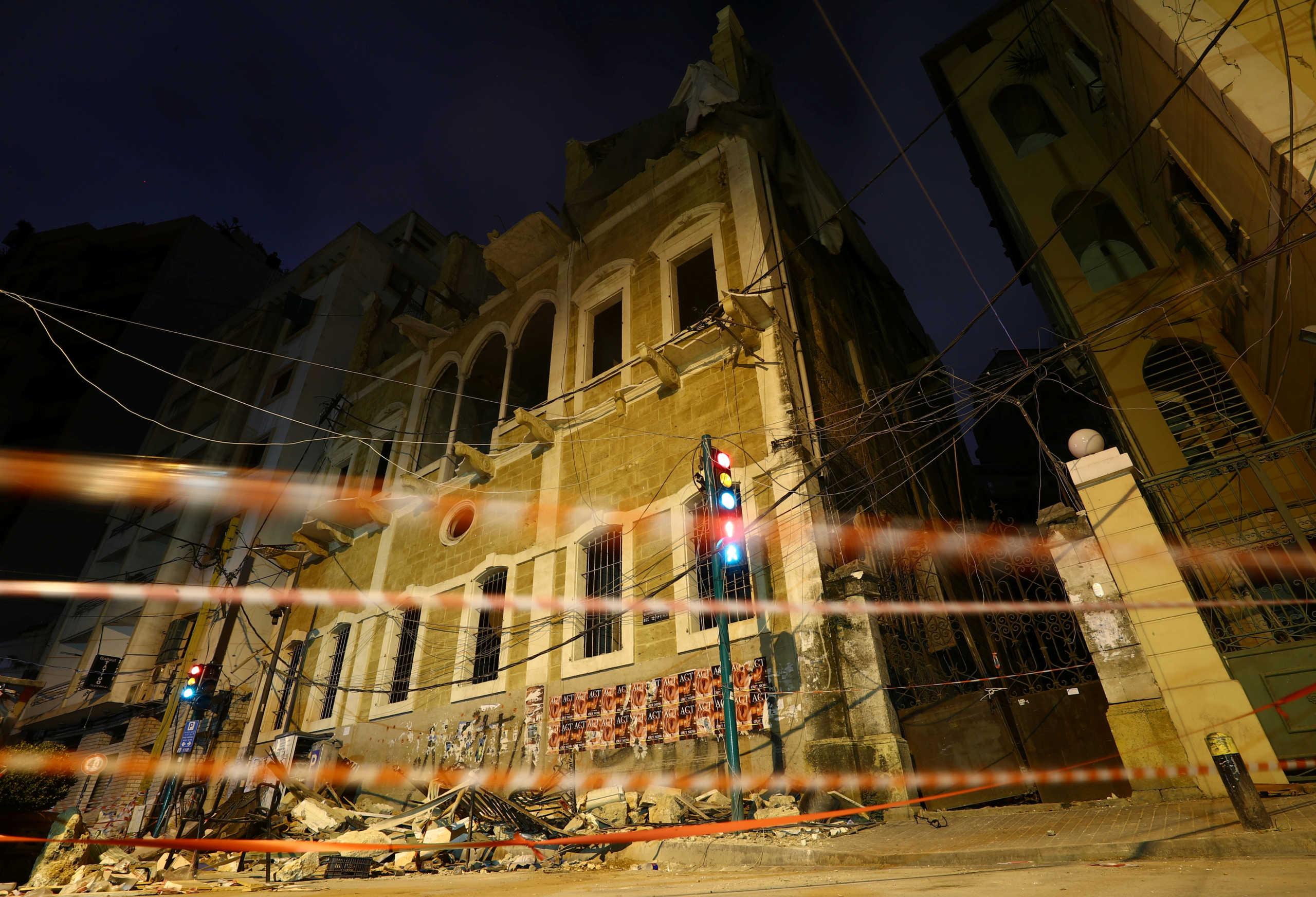 Λίβανος: Εξήντα ιστορικά κτίρια της Βηρυτού κινδυνεύουν να καταρρεύσουν από την έκρηξη