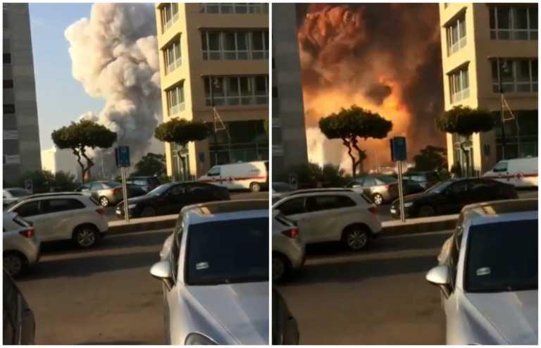 Βηρυτός: Νέο εφιαλτικό βίντεο - Η «κόλαση» λίγα μέτρα μακριά