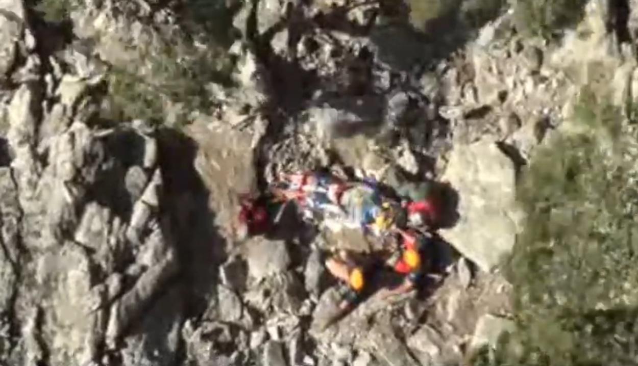 Εντυπωσιακή διάσωση ορειβάτη που ήταν σχεδόν 2 ημέρες σε φαράγγι στην Σαμοθράκη