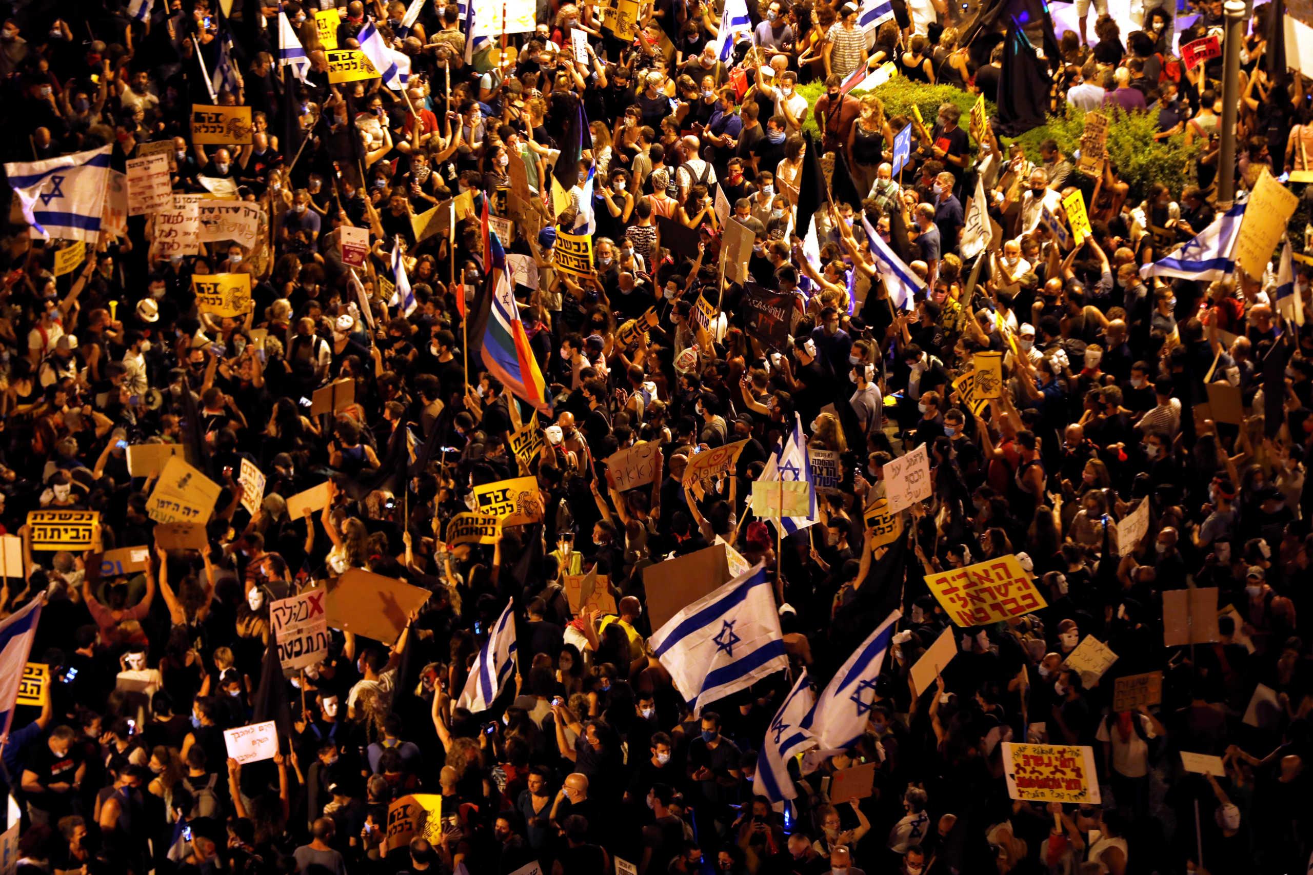 Ισραήλ: Χιλιάδες άνθρωποι στους δρόμους κατά του πρωθυπουργού Νετανιάχου