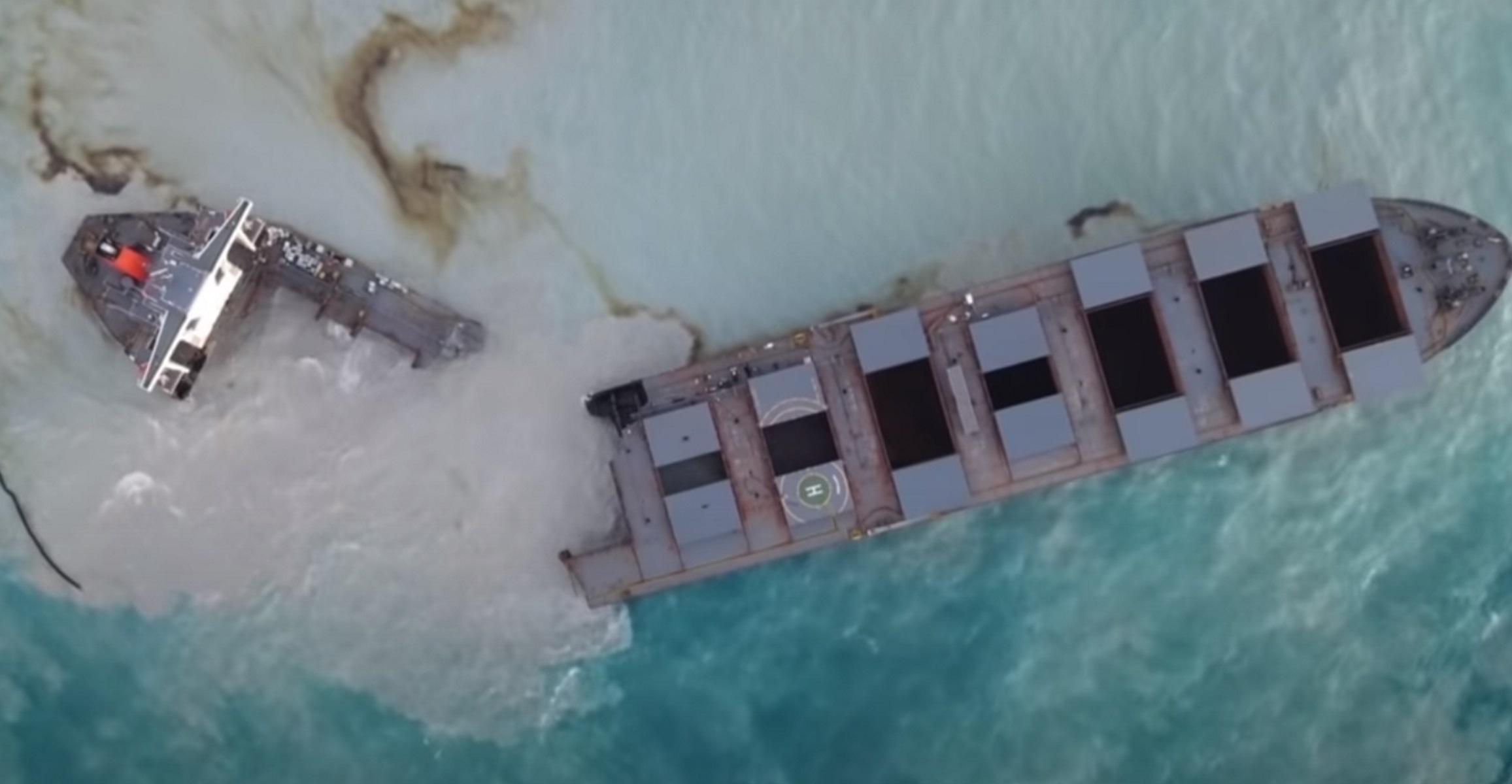 Μαυρίκιος: Κόπηκε στα δύο το ιαπωνικό τάνκερ – Στη θάλασσα 1.000 τόνοι καυσίμων
