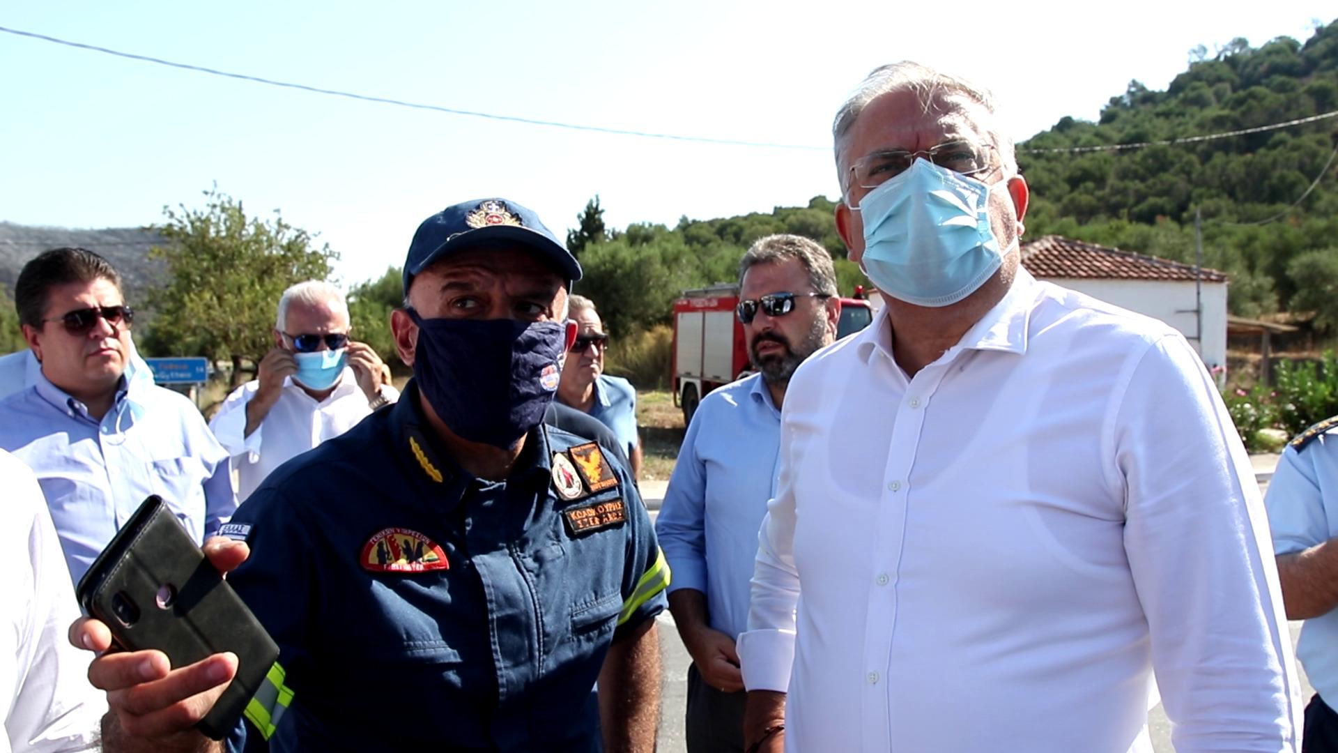 Θεοδωρικάκος: Μέσα στην εβδομάδα οι αποζημιώσεις για τους πυρόπληκτους της Λακωνίας