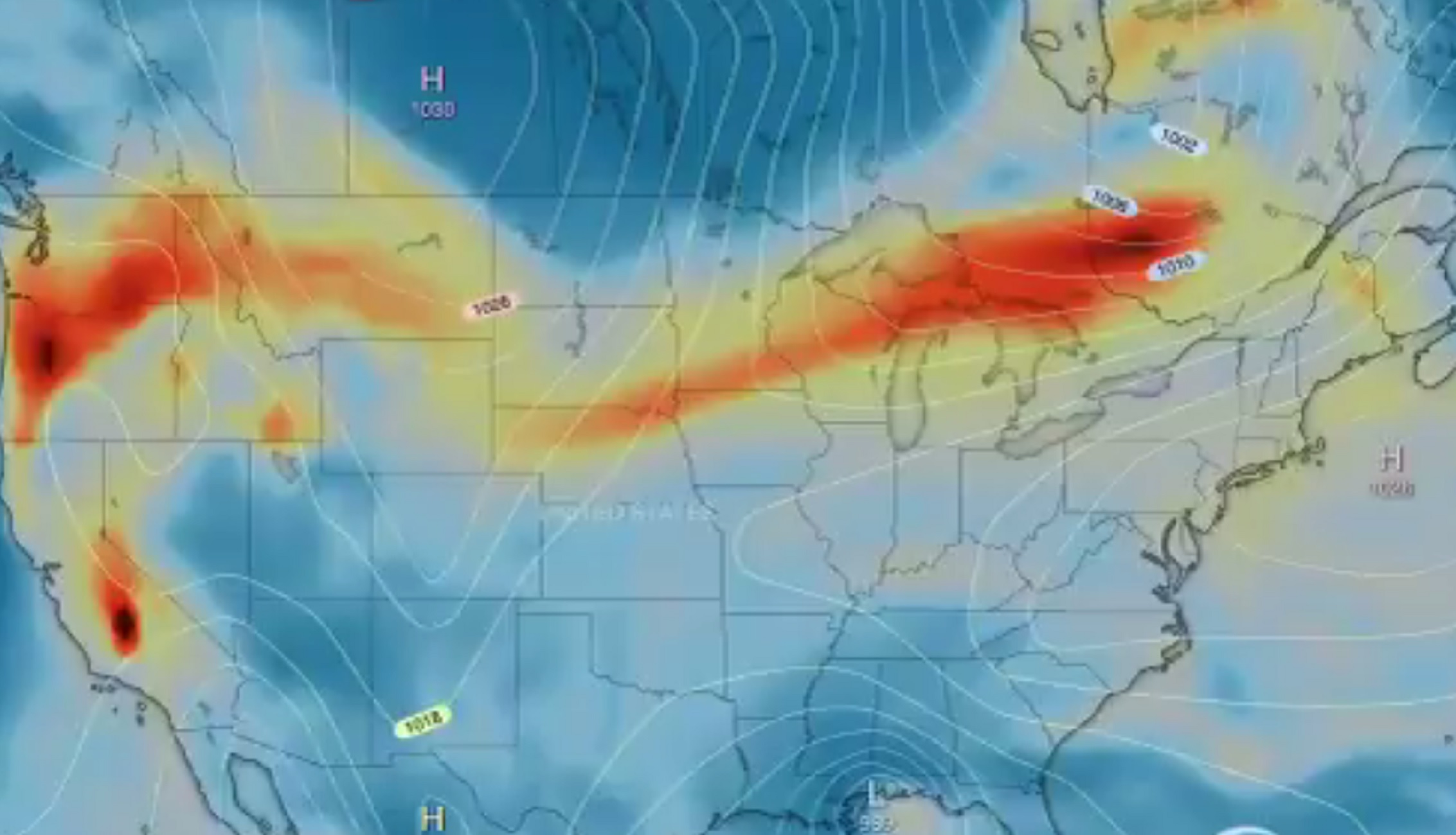 Απίστευτο – Ο καπνός από τις πυρκαγιές στις ΗΠΑ έφτασε στην Ευρώπη