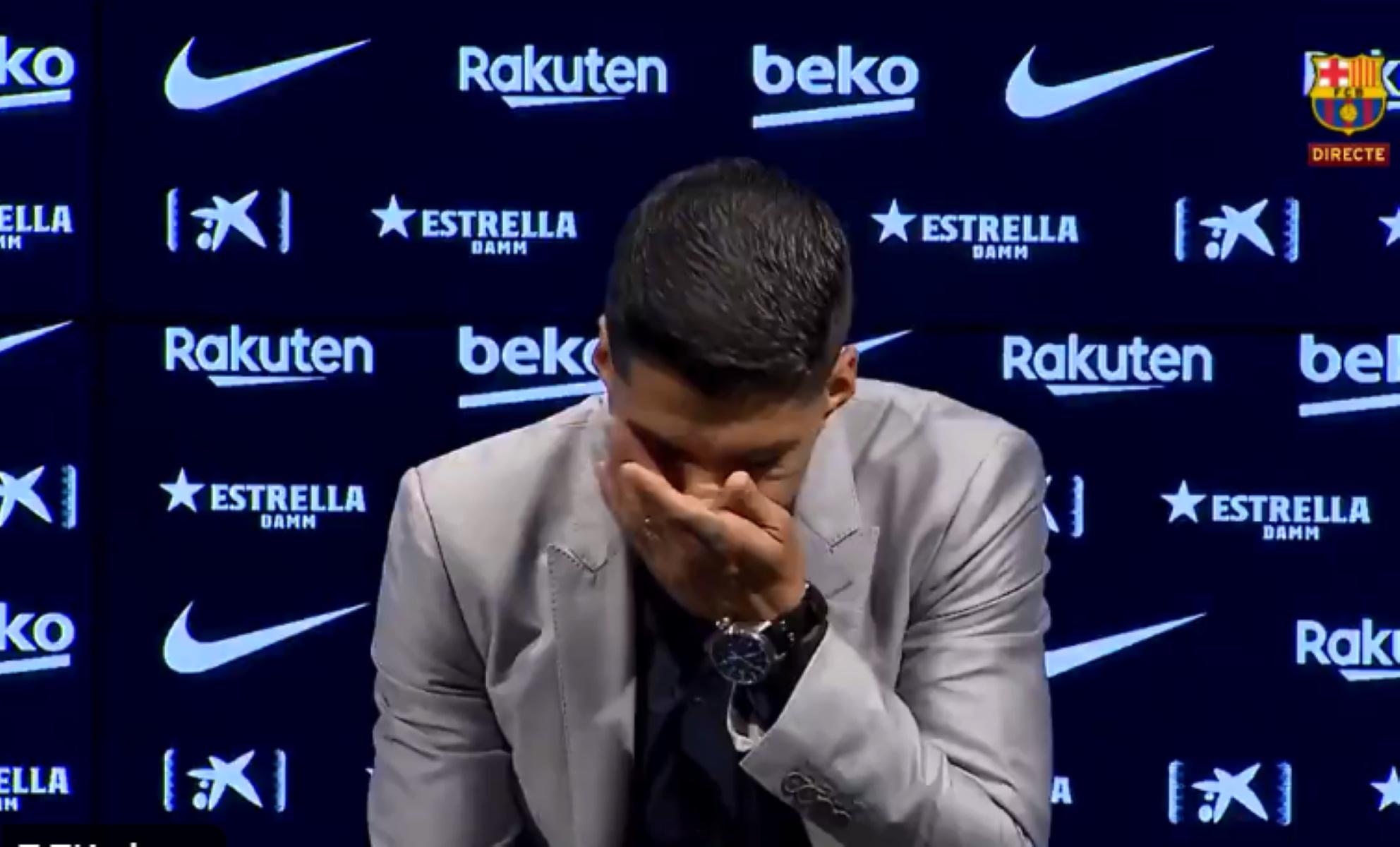 """""""Λύγισε"""" ο Σουάρες! Αποχαιρέτησε με δάκρυα την Μπαρτσελόνα (video)"""