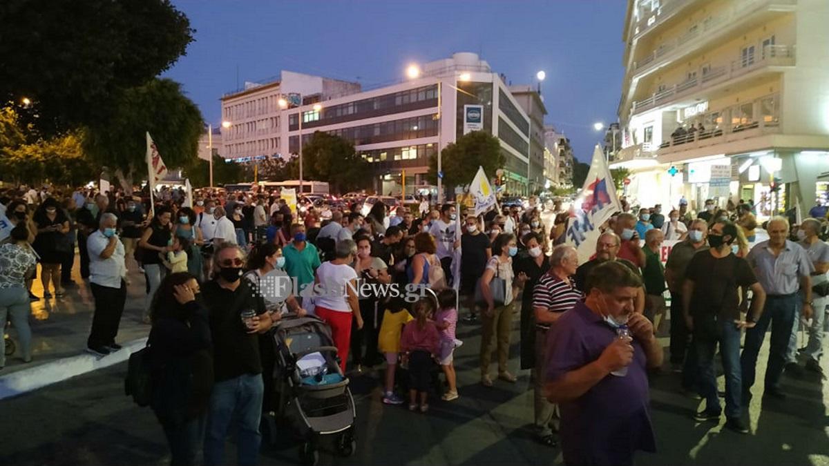 Συγκέντρωση διαμαρτυρίας για την επίσκεψη Πομπέο στα Χανιά