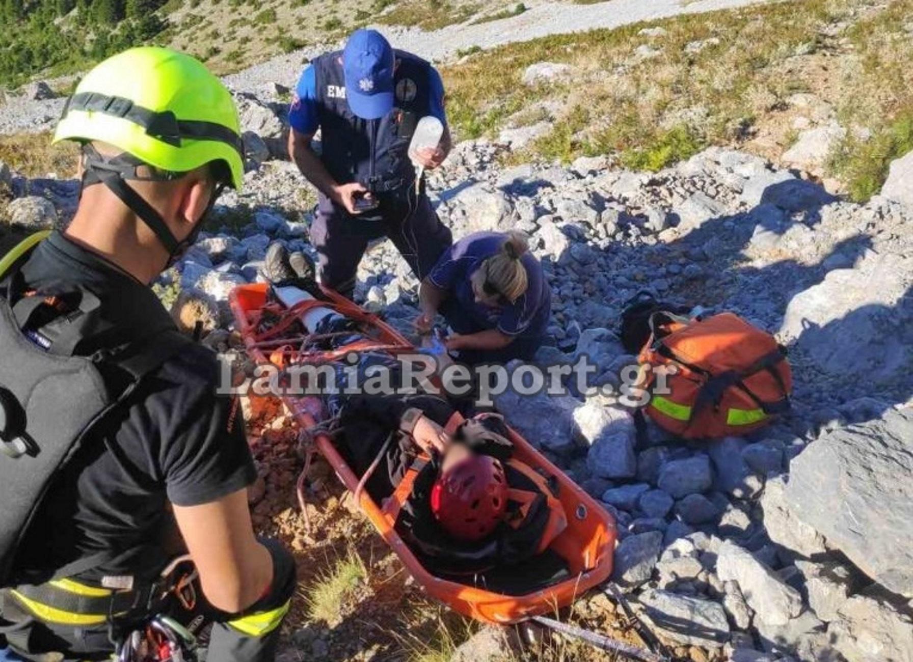 Εύβοια: Δραματική διάσωση στην κάμερα! Σφάδαζε στους πόνους στο Ξηροβούνι μέσα σε μια λίμνη αίματος (Βίντεο)